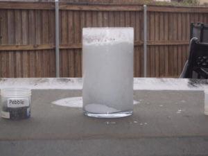 Marble Dust acid reaction