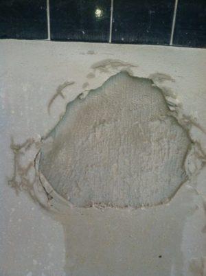 Homebrew bond coat failure, debonded pool plaster, pool leak,