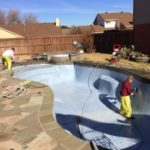 polish pool, 5 year warranty, replaster, Hydro Demo Replaster Prep