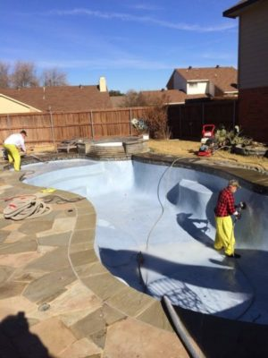 polish pool, 5 year warranty, replaster, Hydro Demo Replaster Prep